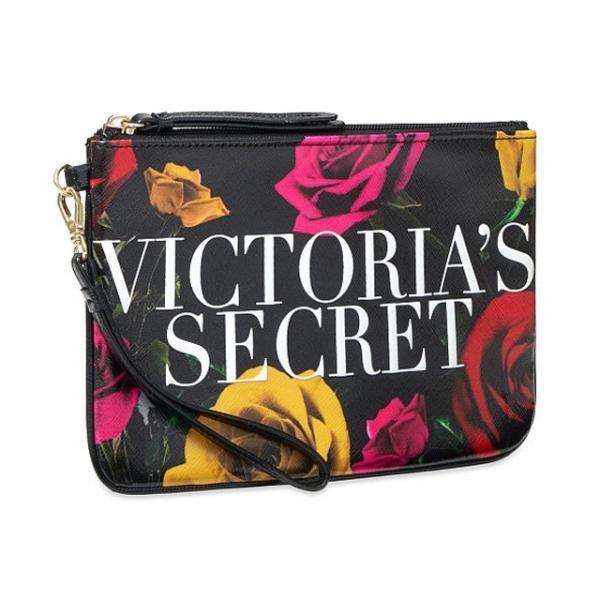 【送料無料】VICTORIA'S SECRET Bold Floral Night Out Wristlet ヴィクトリアシークレット クラッチ ポーチ リストレット 花柄 ネコポス 代引き決済不可|climb-f|02