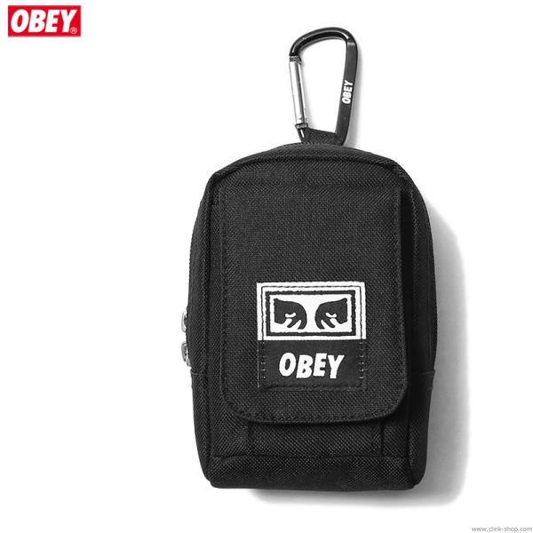 オベイ OBEY DROP OUT UTILITY SMALL BAG (BLACK)