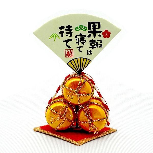 お正月飾り 亥(いのしし) の置物 ちりめん 台・金俵付き 「果報は寝て待て」  リュウコドウ  日本製(京都) かわいい亥年のお正月飾り|clipboad|10