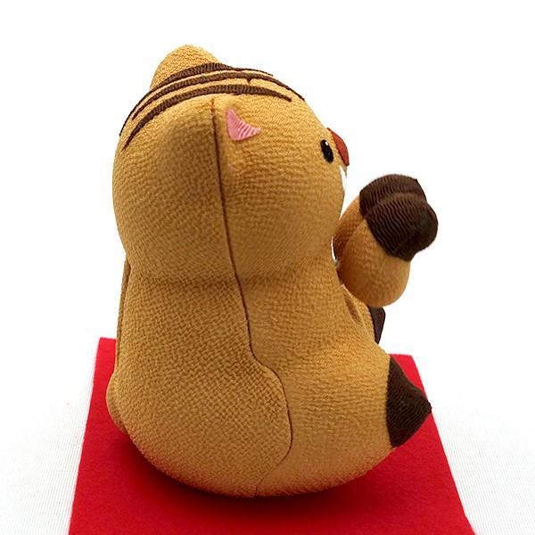 お正月飾り 亥(いのしし) の置物 ちりめん Pケース入り 「ソーラーいのしし」  リュウコドウ  日本製(京都) かわいい亥年のお正月飾り|clipboad|06