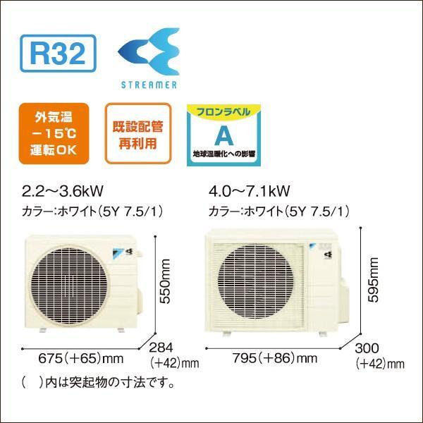 ダイキンエアコン 23畳用 risora(リソラ) SXシリーズ 2019年モデル S71WTSXP-F(-K)(-W)(-N) 単相200V