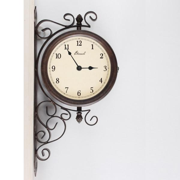 両面壁掛け時計 エターナルボスサイドクロック B 両面時計 掛時計 壁時計 アンティーク レトロ モダン アイアン おしゃれ