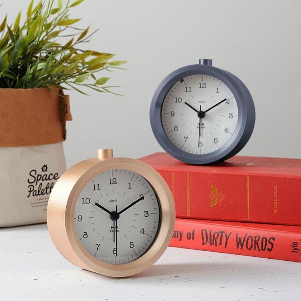 目覚まし時計 置き時計 Bruno ブルーノメタルアラームクロック イデア