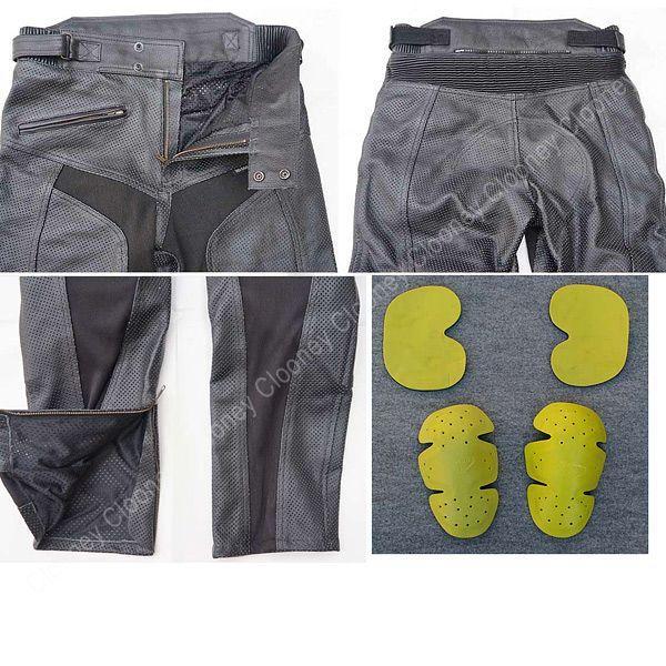 【Clooney】 MP08 本革 パンチングレザーパンツ メッシュ 牛革  ブーツアウト メンズ 革パンツ|clooney-store|04