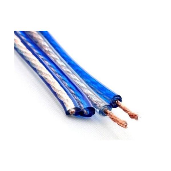 LRセット[バナナプラグ加工済] 200芯(×2) バナナプラグ付スピーカーケーブル 完成品 ハンダ済み 青 2本1組セット (3m)