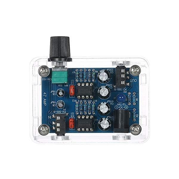 NE5532Hi-FiヘッドホンアンプキットDIYキットDC9V-18V47Amp透明ハウジング自作組み立てキット