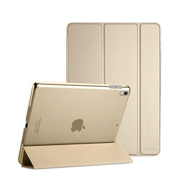 送料無料 Apple iPad Pro 10.5' 2017 ケース - 2017新10.5インチiPad Pro専用 超薄型軽量 スタンドスマートケース 半透明フロストバ|clorets