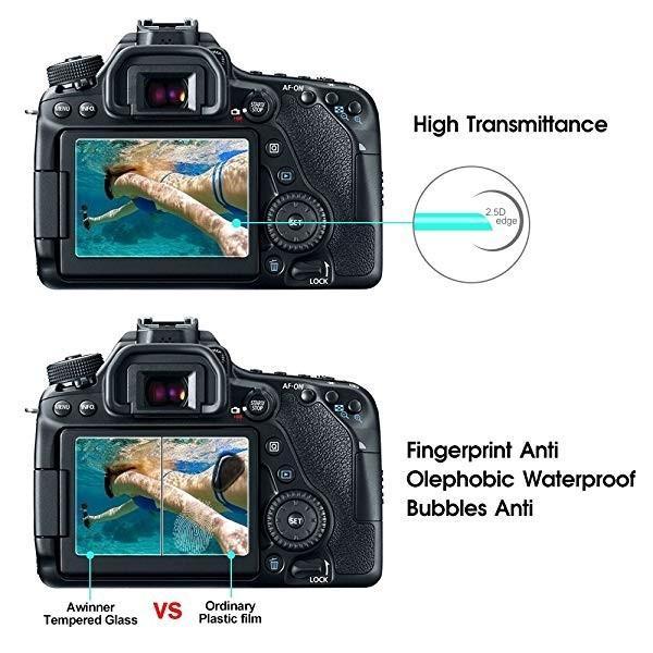 2枚入り 液晶保護フィルム Canon EOS 70D 80D 700D 750D アクションカメラ 専用 スクリーン保護シート 液晶フィルム