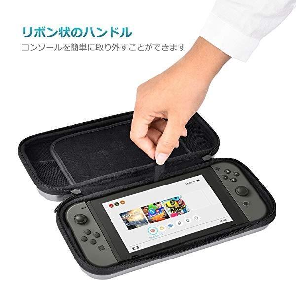Nintendo switch キャリング ケース Elekele保護カバー スリムハードポーチ 防水 防汚収納バッグ ハンドストラップ付 耐衝撃 固 ... clorets 08