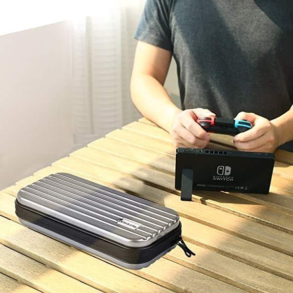 Nintendo switch キャリング ケース Elekele保護カバー スリムハードポーチ 防水 防汚収納バッグ ハンドストラップ付 耐衝撃 固 ... clorets 09