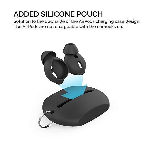 シリコン イヤホンカバー(3組)(音 を上げる)(シリコン収納袋付き)Apple AirPodsとEarPodsに適用する。 (黒い) 送料無料