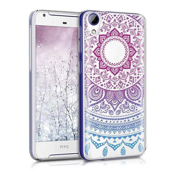 送料無料 HTC Desire 628 dual SIM ケース スマホカバー 携帯 保護ケース 青色ダークピンク透明|clorets