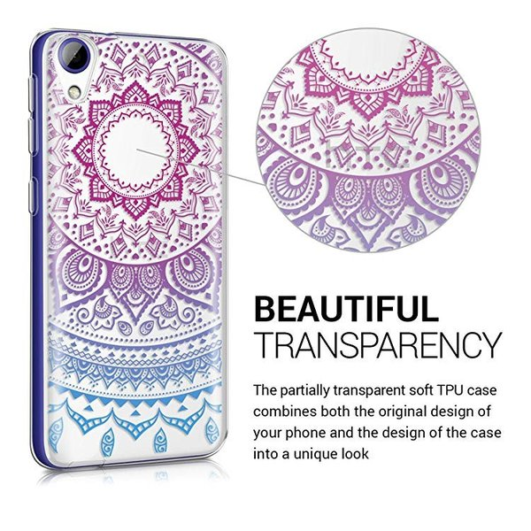 送料無料 HTC Desire 628 dual SIM ケース スマホカバー 携帯 保護ケース 青色ダークピンク透明|clorets|03