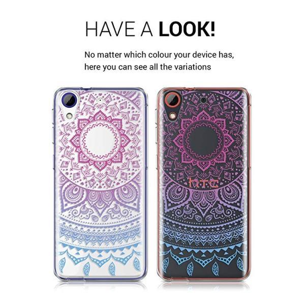 送料無料 HTC Desire 628 dual SIM ケース スマホカバー 携帯 保護ケース 青色ダークピンク透明|clorets|04