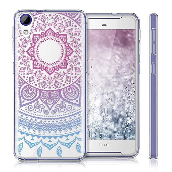 送料無料 HTC Desire 628 dual SIM ケース スマホカバー 携帯 保護ケース 青色ダークピンク透明|clorets|05
