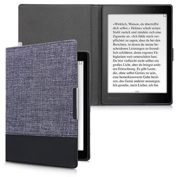 送料無料 Kobo Aura ONE ケース キャンバス 電子書籍カバー オートスリープ reader 保護ケース|clorets