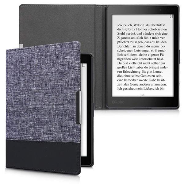 送料無料 Kobo Aura ONE ケース キャンバス 電子書籍カバー オートスリープ reader 保護ケース|clorets|02
