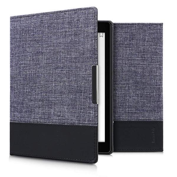 送料無料 Kobo Aura ONE ケース キャンバス 電子書籍カバー オートスリープ reader 保護ケース|clorets|05