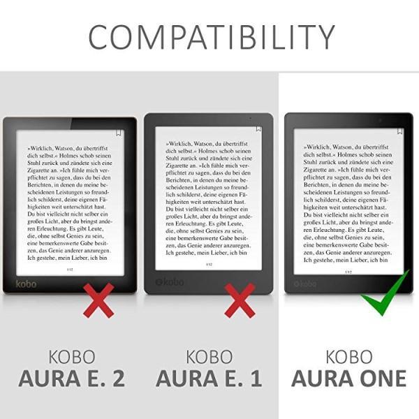 送料無料 Kobo Aura ONE ケース キャンバス 電子書籍カバー オートスリープ reader 保護ケース|clorets|06