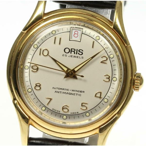 【ORIS】オリス 革ベルト 7317 自動巻き メンズ closer0510