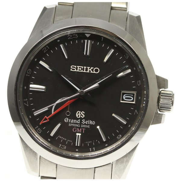 ☆良品【SEIKO】セイコー グランドセイコー GMT SBGE013 9R66-0AE0 スプリングドライブ メンズ