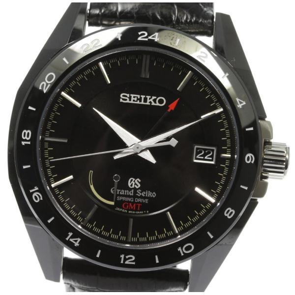 美品 SEIKO セイコーグランドセイコーGMT500本 SBGE037/9R16-0AA0スプリングドライブメンズ