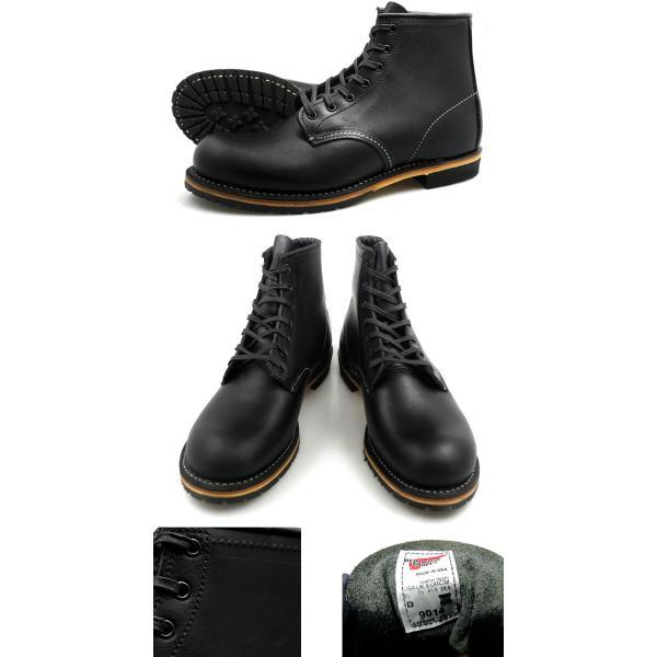 レッドウィング ベックマン REDWING 9014 BECKMAN BOOT 6 ROUND-TOE BLACK FEATHERSTONE 9014 ブーツ 6インチ ラウンド トゥ ブラック フェザーストーン|cloudshoe|02
