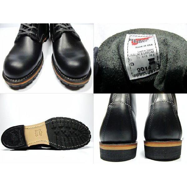 レッドウィング ベックマン REDWING 9014 BECKMAN BOOT 6 ROUND-TOE BLACK FEATHERSTONE 9014 ブーツ 6インチ ラウンド トゥ ブラック フェザーストーン|cloudshoe|04