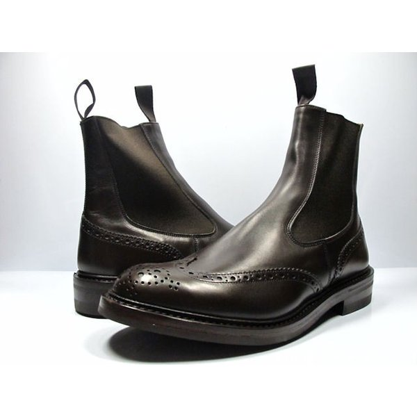 トリッカーズ ダイナイトソール エスプレッソ エラスティック ブローグ ブーツ|cloudshoe|02
