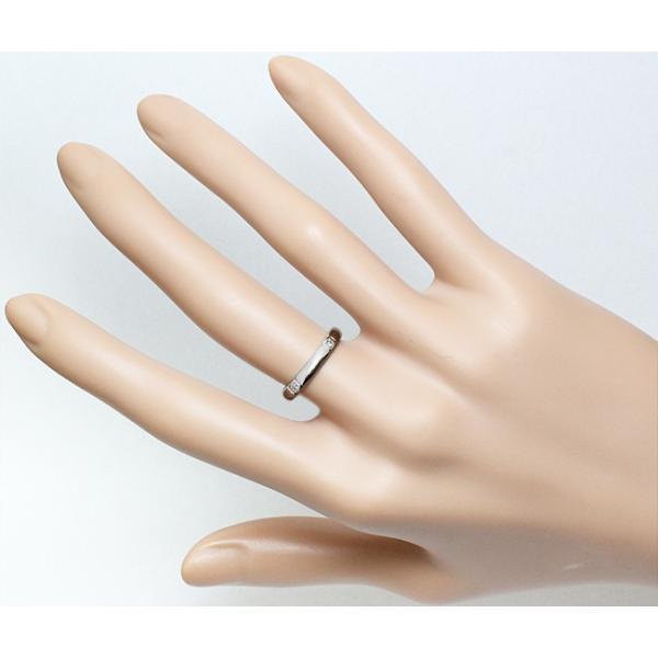 ポンテヴェキオ ダイヤ 0.02ct Pt950 リング 指輪 メッセージ入り 10号