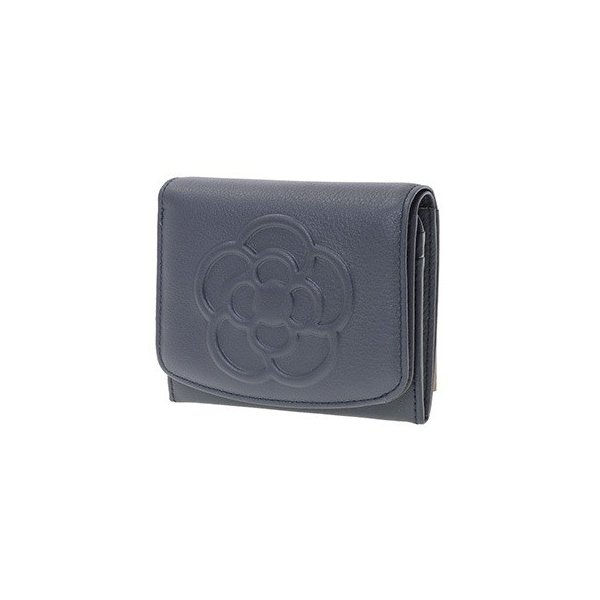 クレイサス財布折財布二つ折りBOXワッフルネイビーCLATHAS