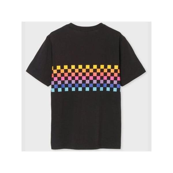 ポールスミス Tシャツ マルチチェッカー プリント ブラック XL Paul Smith
