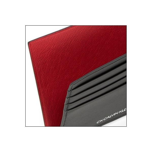 カルバンクライン 折財布 ゲイン小物 レッド Calvin Klein PLATINUM ラッピング無料|clover-leaf|02