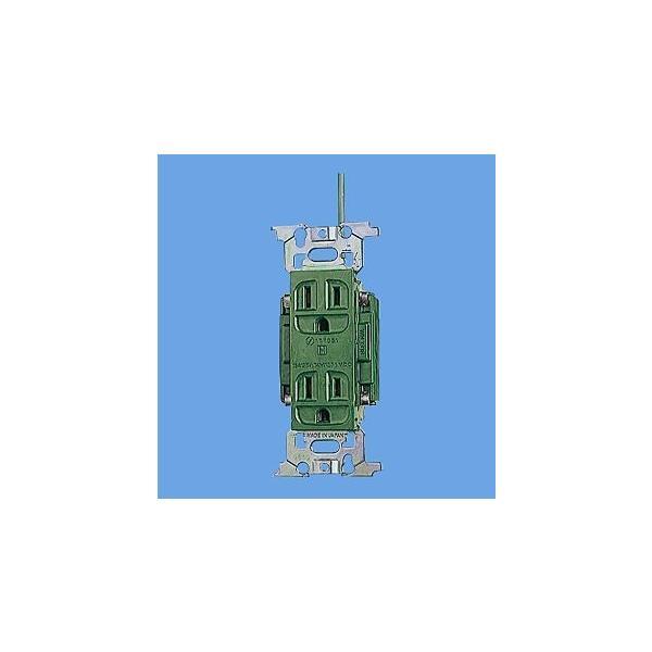 パナソニック 配線器具【WN1318GK】フルカラー医用埋込アース付ダブルコンセント(緑)