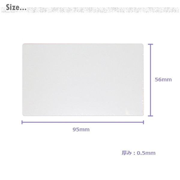 交換用透明フィルム 2枚組 PET板 IDカードホルダー用 窓付きカードポケット用 取替用 消耗品 LR0010用 CLuaR シールアル|cluar|02