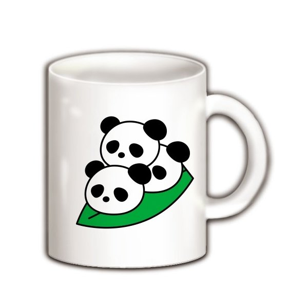 笹団子ぱんだ マグカップ(ホワイト)