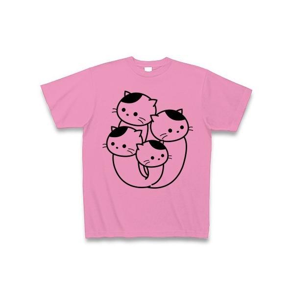 ぶなしめじねこ Tシャツ(ピンク)