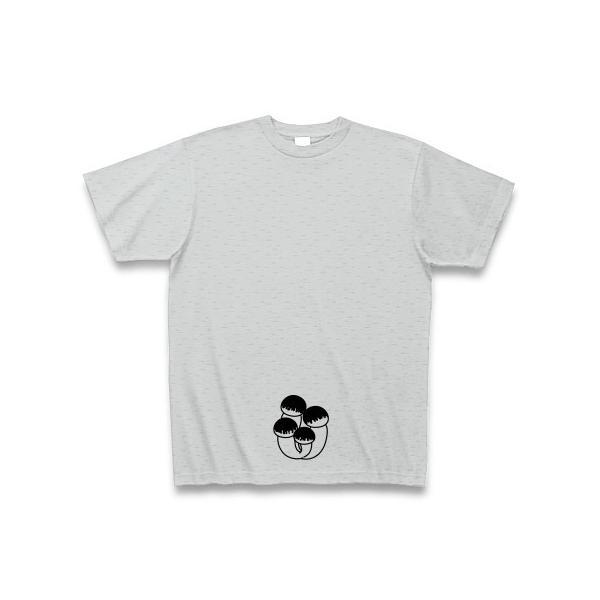 人妻限定ぶなしめじ Tシャツ(グレー)