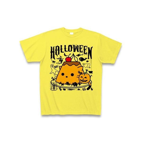 かぼちゃプリンねこのハロウィンパーティー Tシャツ(イエロー)