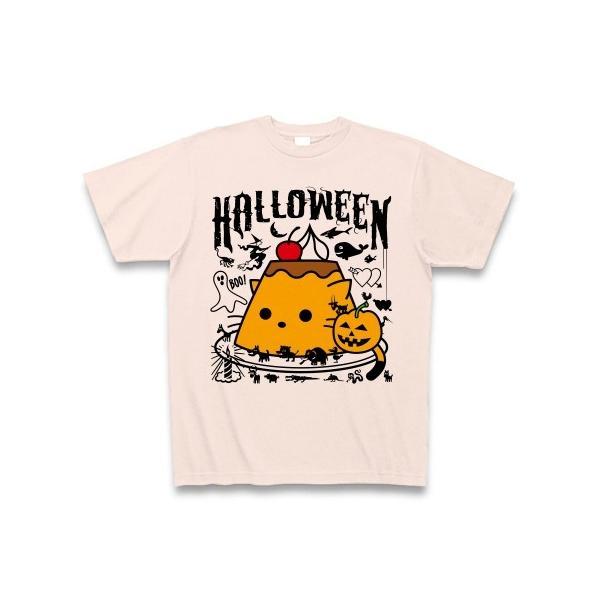 かぼちゃプリンねこのハロウィンパーティー Tシャツ(ライトピンク)