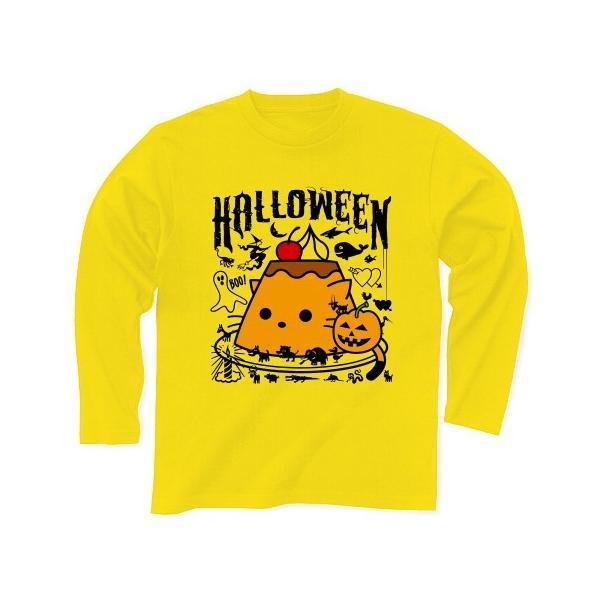 かぼちゃプリンねこのハロウィンパーティー 長袖Tシャツ(デイジー)