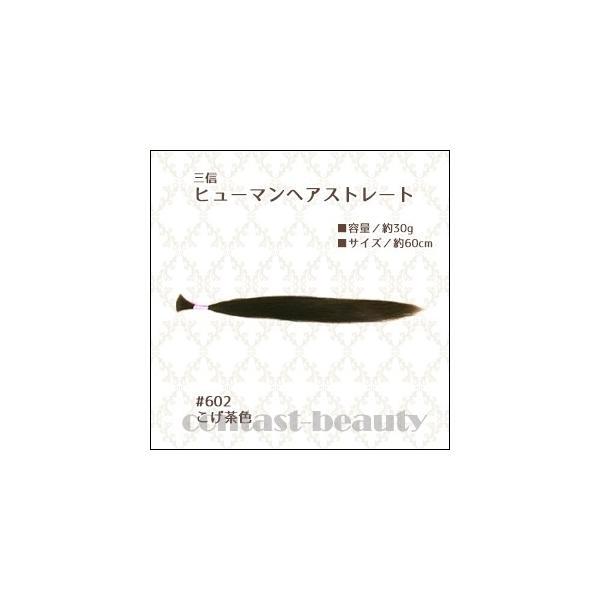 美容雑貨3 小物 三信 ヒューマンヘアストレート こげ茶 #602 60cm 30g