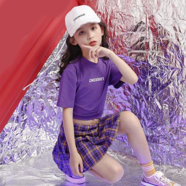 キッズダンス衣装 ヒップホップ キッズ ダンス衣装 トップス  パンツ   女の子 ダンス衣装  ジャズダンス ステージ衣装 練習着 ダンスウェア  19yxy14|co-tyiya|02