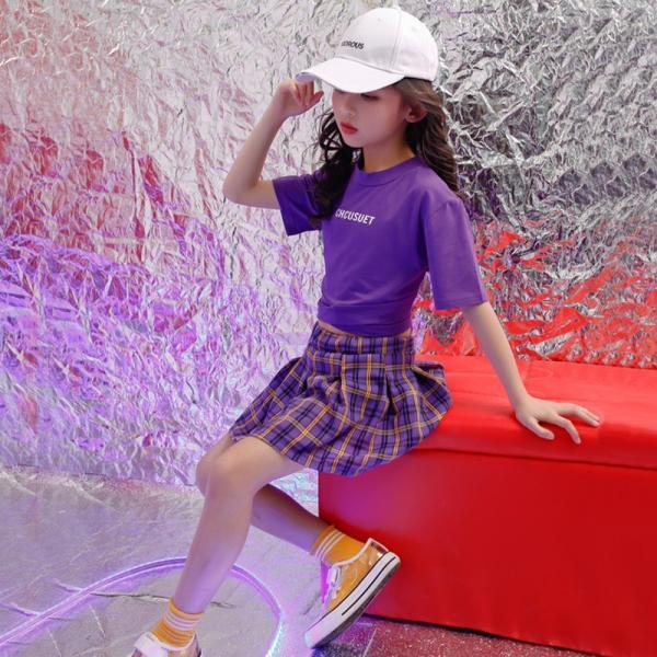 キッズダンス衣装 ヒップホップ キッズ ダンス衣装 トップス  パンツ   女の子 ダンス衣装  ジャズダンス ステージ衣装 練習着 ダンスウェア  19yxy14|co-tyiya|03