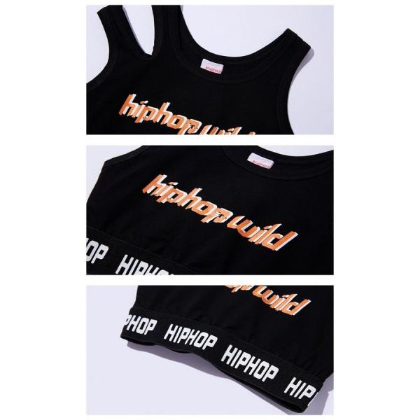 キッズダンス衣装  ジャッズ ヒップホップ  HIPHOP トップス パンツ 女の子  ヒップホップ 派手ダンス衣装 キッズ  ジャズダンス  ダンスウェア 19yyq12|co-tyiya|09