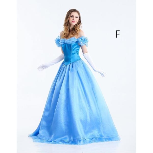 7d79183640d69 シンデレラドレス女性用 ディズニープリンセス Cinderella コスプレ衣装
