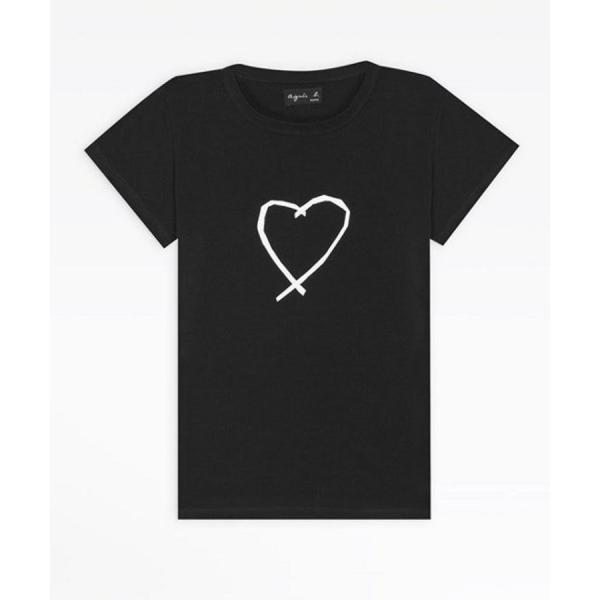 アニエスベー レディース Tシャツ 半袖 カットソー ロゴTシャツ コットン100% agnes b. ブラック ホワイト ネイビー 並行輸入品 ショッパー付き! cobalt-shop 13