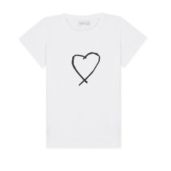 アニエスベー レディース Tシャツ 半袖 カットソー ロゴTシャツ コットン100% agnes b. ブラック ホワイト ネイビー 並行輸入品 ショッパー付き! cobalt-shop 14
