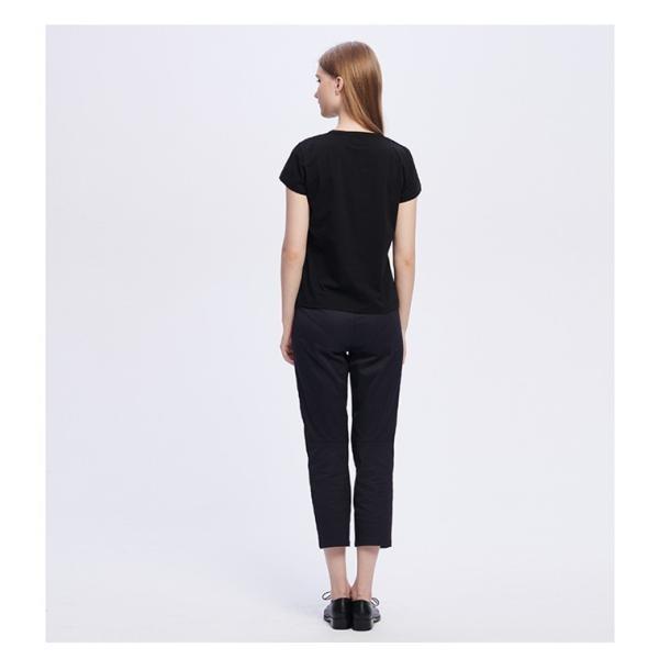 アニエスベー レディース Tシャツ 半袖 カットソー ロゴTシャツ コットン100% agnes b. ブラック ホワイト ネイビー 並行輸入品 ショッパー付き! cobalt-shop 06