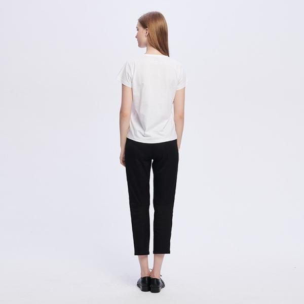 アニエスベー レディース Tシャツ 半袖 カットソー ロゴTシャツ コットン100% agnes b. ブラック ホワイト ネイビー 並行輸入品 ショッパー付き! cobalt-shop 09